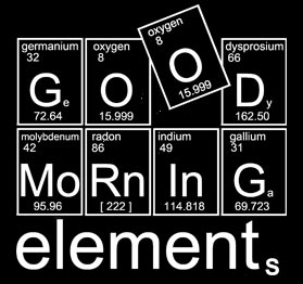 Chemietasche Good morning elements ein Jutebeutel für Chemienerds