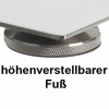 Edelstahlstativplatten mit einem  höhenverstellbarer  Fuß / Stainless steel tripod plates with a height adjustable foot